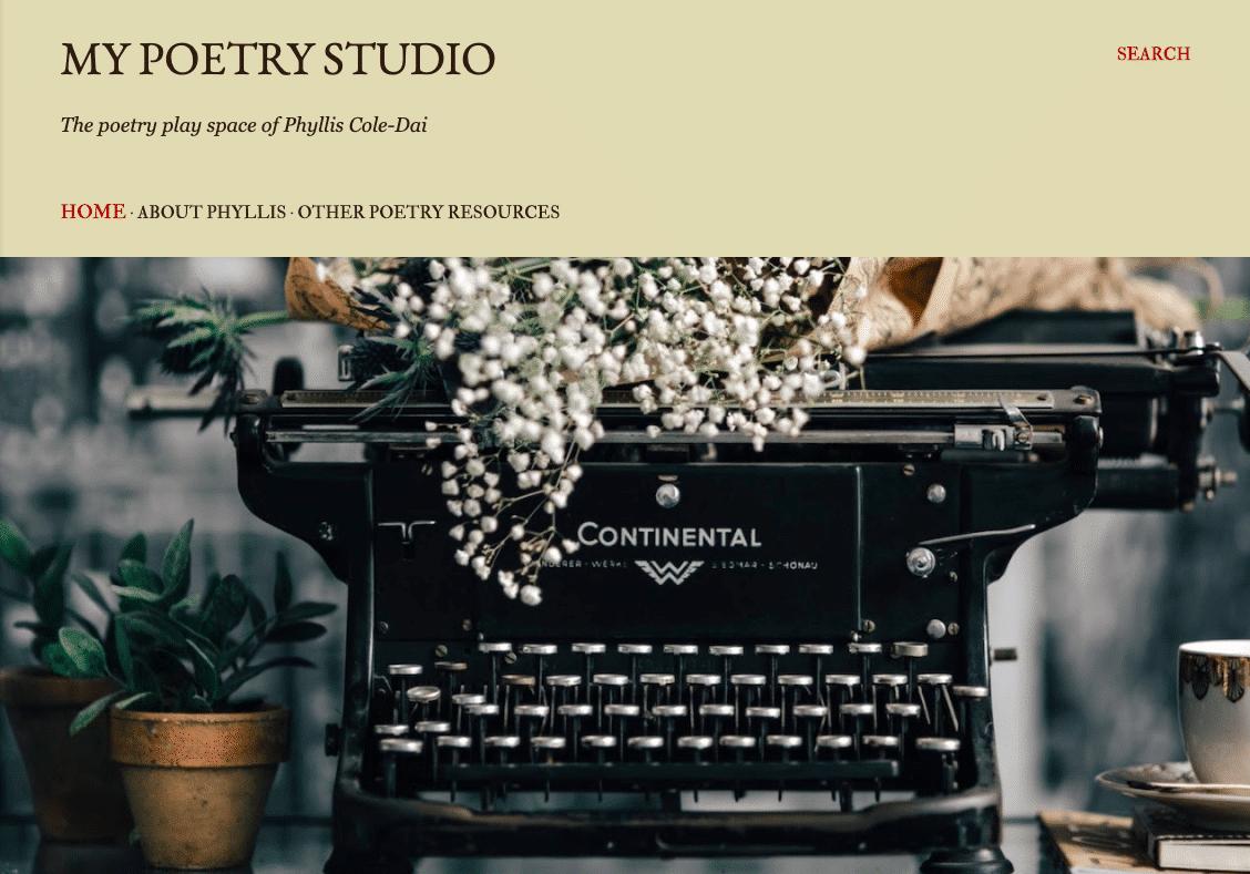 """Phyllis launches """"My Poetry Studio"""""""